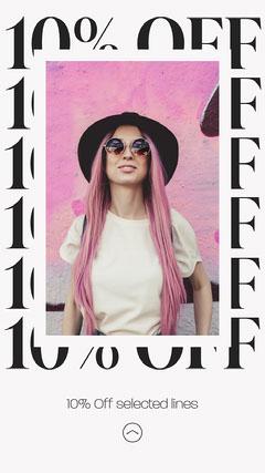 10% off Instagram Story Hair Salon