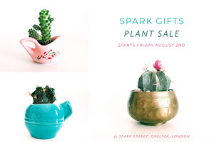 White Spark Gifts Plant Sale Advertisement Christmas Postcard
