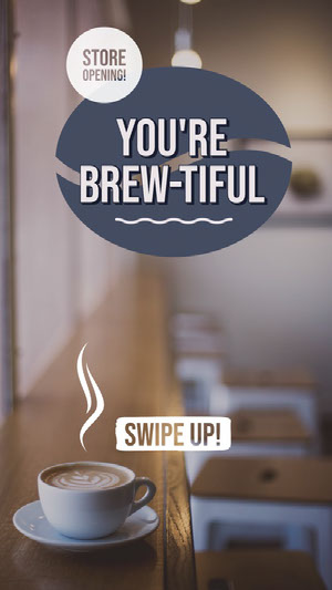 You're<BR>Brew-tiful Grand Opening Flyer