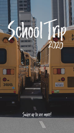 School Trip Instagram Story  Music Tour