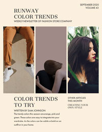 Fashion Trends Newsletter with Collage of Models Newsletter Examples