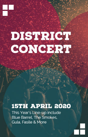 District <BR>Concert Poster di concerto