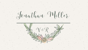 Grey Rustic Wreath Wedding Place Card Tischkarten