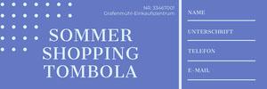SOMMER <BR>SHOPPING TOMBOLA  Eintrittskarte