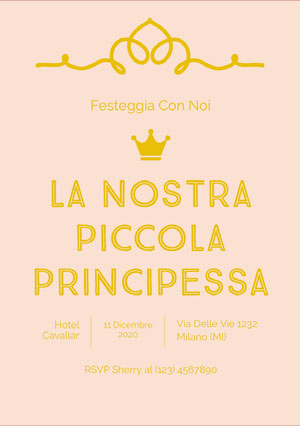 our little princess baby shower invitations  Invito per baby shower