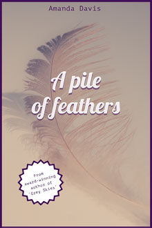 Violet and White Feathers Book Cover  Buchumschlag