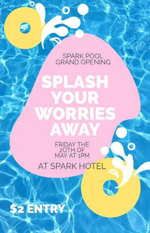 SPLASH YOUR WORRIES AWAY Pool Party Invitation