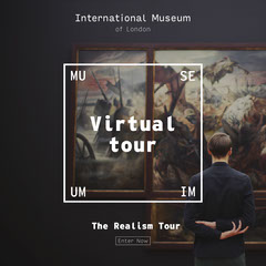 Dark White Artwork Museum Virtual Tour Instagram Square  Music Tour