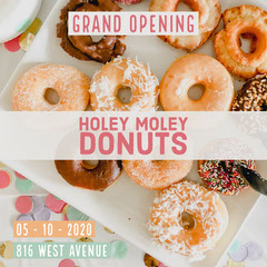 Pink Holey Moley Donuts Grand Opening Instagram Square   Grand Opening Flyer
