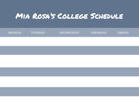 White and Navy Blue Empty Schedule College Schedule