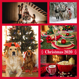 Warm Toned Christmas Collage Instagram Post Christmas Card Photo
