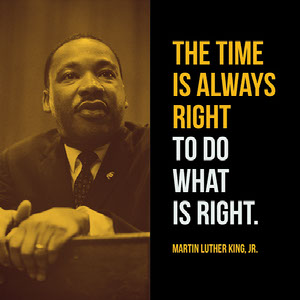 Yellow and Black Warm Toned Martin Luther King Jr Quote Instagram Graphic Meme