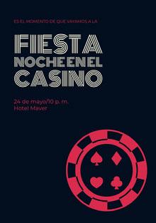 fiesta Noche en el casino Invitación