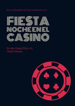 fiesta Noche en el casino Invitación de fiesta