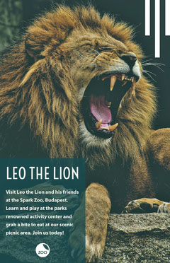 LEO THE LION Play Poster