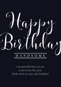 Black and White Happy Birthday Card Biglietto di compleanno