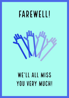 farewell card Wave