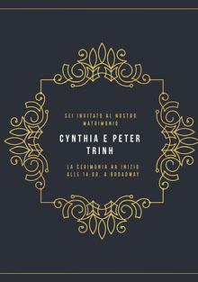 gold embellished wedding cards Biglietti di ringraziamento per il matrimonio