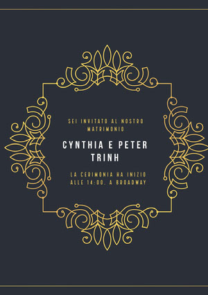 gold embellished wedding cards Partecipazioni di matrimonio