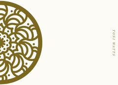 gold emblem notecard Gold