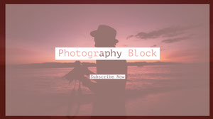 Pink and White Photography Youtube Thumbnail Banner de YouTube