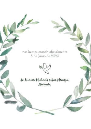 dove wedding announcements  Anuncio de boda