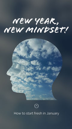 Blue New Mindset Instagram Story Positive Thought