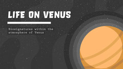Black and Orange Life on Venus Presentation Cover Galaxy