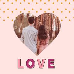 instagram square love foil  Couple