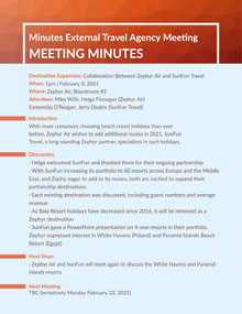 Blue & Orange Meeting Minutes Meeting Minute