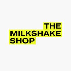 Black & Yellow Milkshake Shop Logo Shopping