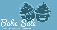 Blue, Minimalistiv Bake Sale Ad Facebook Banner  Fundraiser