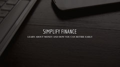 Black and White Simplify Finance Banner Finance
