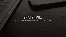 Black and White Simplify Finance Banner Banner do YouTube