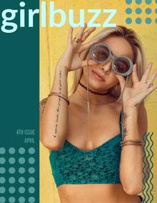 Yellow and Beautiful Woman Mangazine Cover Magazine Cover