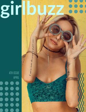 Yellow and Beautiful Woman Mangazine Cover Portada de revista