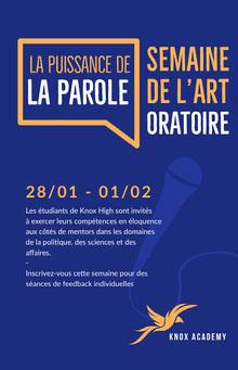 public speaking event poster Affiche