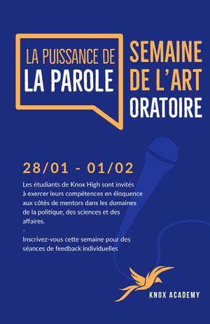 public speaking event poster Affiche événementielle