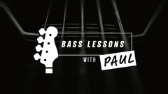 Bass lessons with Paul Youtube Channel art Music Lessons Flyer