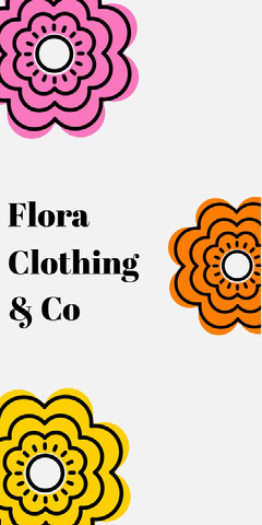 Multicolored Floral Clothing Tag Clothing