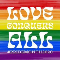 Pride Colors Love Conquers All Instagram Square Pride