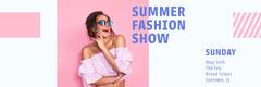 Pink Block Summer Fashion Show Twitter Banner Fashion Show