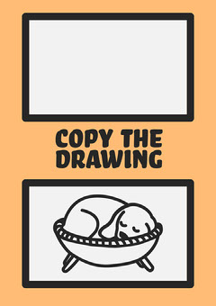 Orange Dog Copy The Drawing Worksheet  Kids