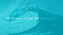 Blue and White Sentence Desktop Wallpaper Ocean