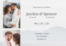 coast cliff top wedding invitation a5  Hochzeitseinladung