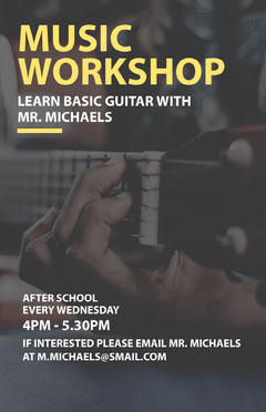 MUSIC WORKSHOP After School