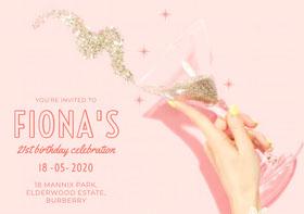 Fiona's Birthday Invitation (Girl)