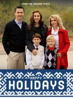 Light, Happy Toned Family Holiday Card Christmas