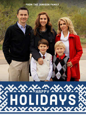 Light, Happy Toned Family Holiday Card Christmas Card