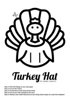 Black and White DIY Turkey Hat Flyer Thanksgiving Flyer
